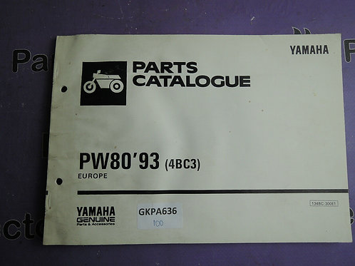 1993 YAMAHA PW80 PARTS CATALOGUE 134BC-300E1
