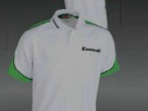 KAWASAKI POLO SPORTS SHIRT MENS WHITE L LARGE GENUINE 139SPM0033 NOS