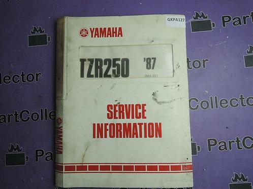1987 YAMAHA TZR 250 BOOK SERVICE INFORMATION