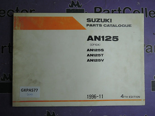 1996-11 SUZUKI AN125 PARTS CATALOGUE 9900B-20060-020