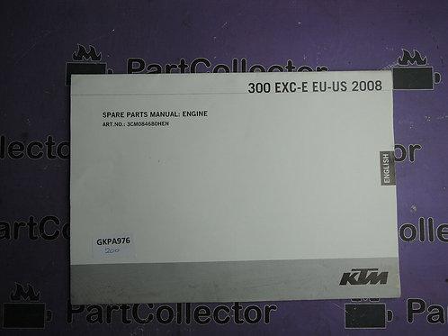 2008 KTM 300 EXC-E EU-US BOOK SPARE PAPTS MANUAL 3CM084680HEN