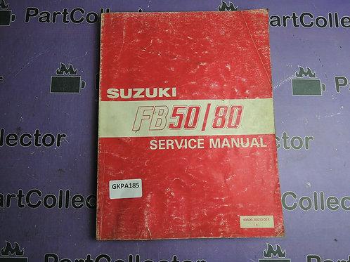1988 SUZUKI FB50 80 SERVICE  MANUAL 99500-30010-01E