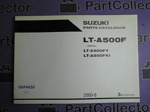 2000-6 SUZUKI LT-A500F PARTS CATALOGUE 9900B-30131-010