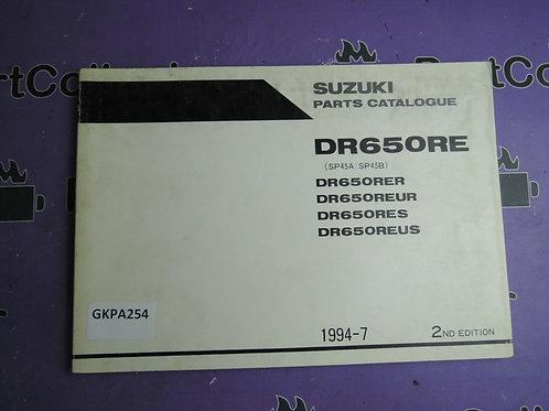 1994-7 SUZUKI DR 650 RER PARTS CATALOGUE 9900B-30094-010 GREEK