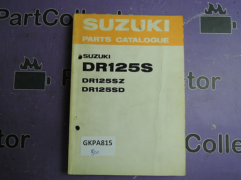 1982 SUZUKI DR125S PARTS CATALOGUE 99000-94836