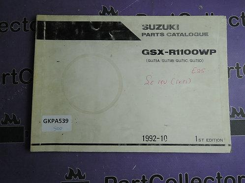 1992-10 SUZUKI  GSX-R11OOWP PARTS CATALOGUE 9900B-30091