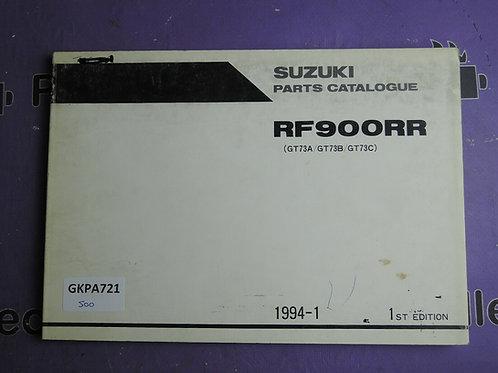 1994-1 SUZUKI RF900RR PARTS CATALOGUE 9900B-30095
