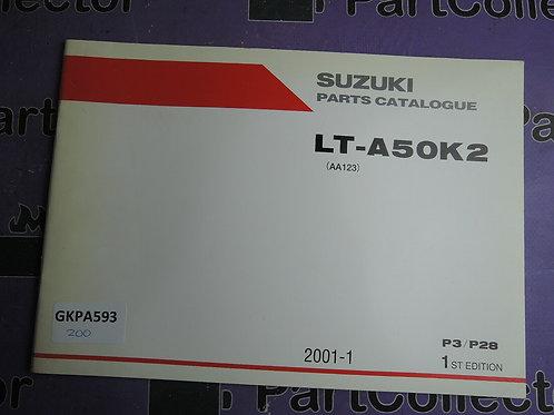 2001-1 SUZUKI LT-A50K2 PARTS CATALOGUE 9900B-10042