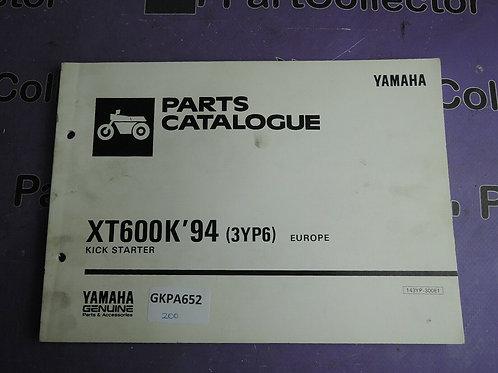 1994 YAMAHA XT600 K PARTS CATALOGUE 143YP-300E1