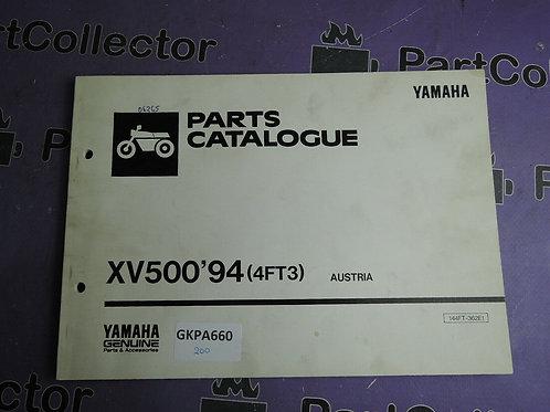 1994 YAMAHA XV500 PARTS CATALOGUE 144FT-362E1