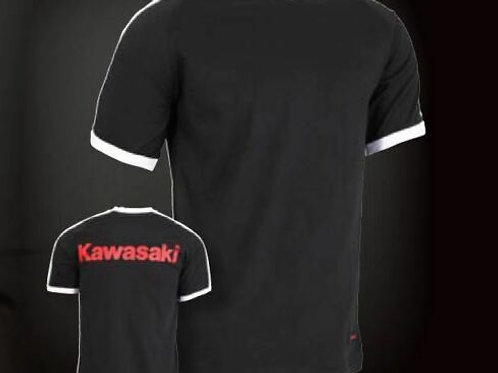 KAWASAKI T-SHIRT L LARGE BLACK GENUINE 177SPM0153 NOS