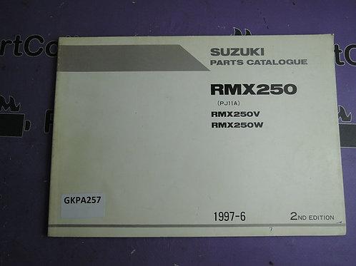 1997-6 SUZUKI RMX 250 PARTS CATALOGUE 9900B-28036-010