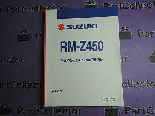 2007 SUZUKI RM-Z450 WERKPLAATSHANDBOEK 99011-28H50-01H