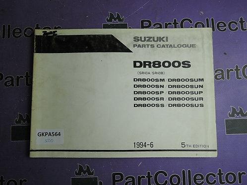 1994-6 SUZUKI DR800S PARTS CATALOGUE 9900B-30084-040