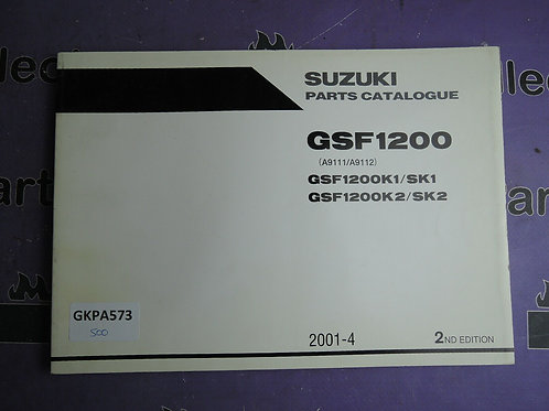 2001-4 SUZUKI GSF 1200 PARTS CATALOGUE 9900B-30136-010