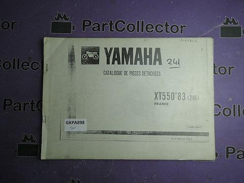1983 YAMAHA XT 550 BOOK PARTS CATALOGUE 1328E-351F1