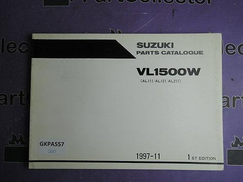 1997-11 SUZUKI VL1500W PARTS CATALOGUE