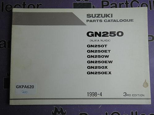 1998-4 SUZUKI GN250 PARTS CATALOGUE 9900B-28033-020