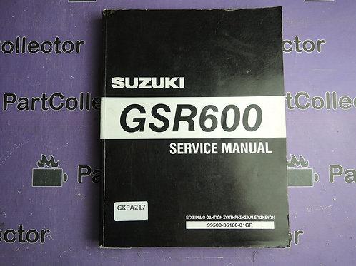 2006 SUZUKI GSR600 SERVICE MANUAL 99500-36160-01GREEK