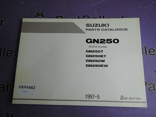 1997-5 SUZUKI GN250 PARTS CATALOGUE 9900B-28033-010