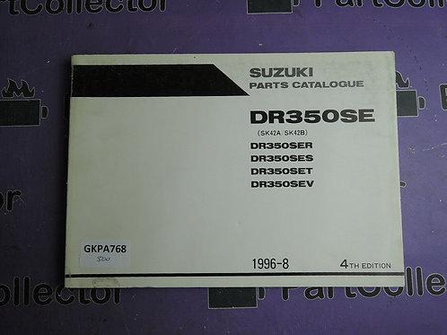 1996-8 SUZUKI DR350SE PARTS CATALOGUE 9900B-30093-030