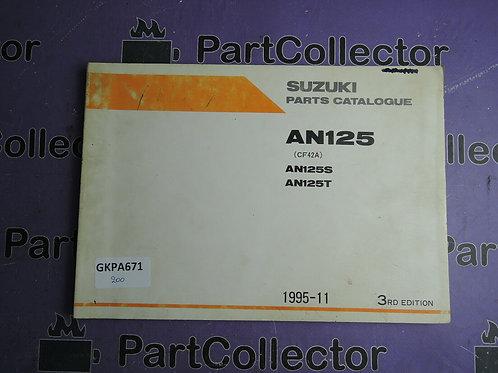 1995-11 SUZUKI AN125 PARTS CATALOGUE 9900B-20060-010