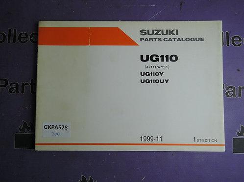 1999-11 SUZUKI UG110 PARTS CATALOGUE 9900B-20075