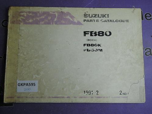 1991-2 SUZUKI FB80 PARTS CATALOGUE 9900B-16020