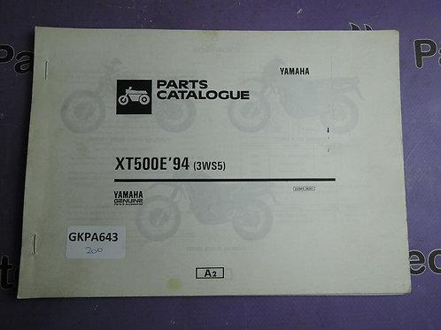 1994 YAMAHA XT500E PARTS CATALOGUE 143WS-362E1