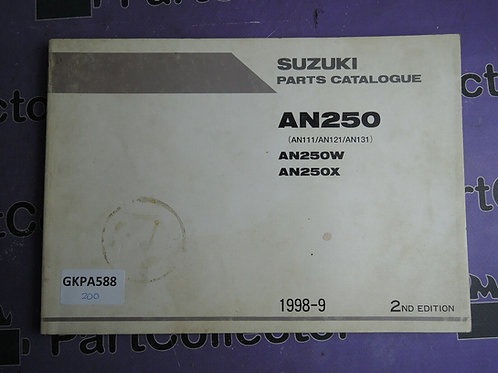 1998-9 SUZUKI AN250 PARTS CATALOGUE