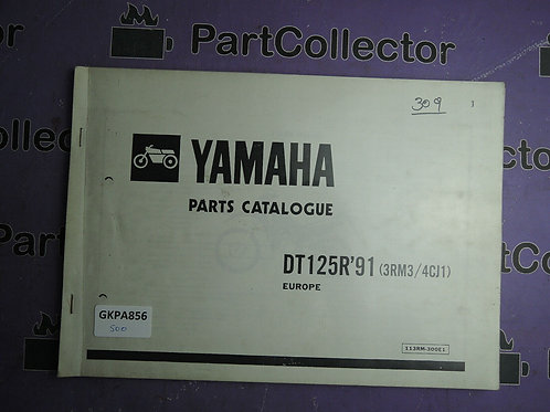 1991 YAMAHA DT 125R BOOK PARTS CATALOGUE 113RM-300E1