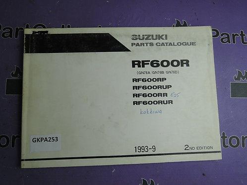 1993-9 SUZUKI RF 600R PARTS CATALOGUE 9900B-30092-010 GREEK