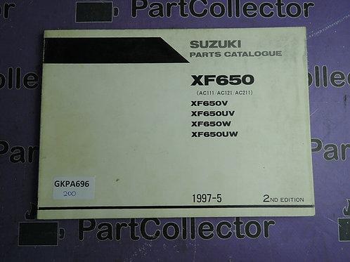 1997-5 SUZUKI XF650 PARTS CATALOGUE 9900B-30115-010