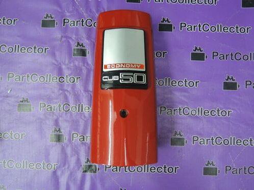 HONDA GENUINE CUB50 C50  RED FRONT COVER HANDLEBAR EMBLEM 64310-GB6-018 NOS