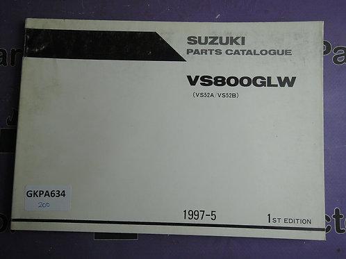 1997-5 SUZUKI VS800GLW PARTS CATALOGUE 9900B-30117