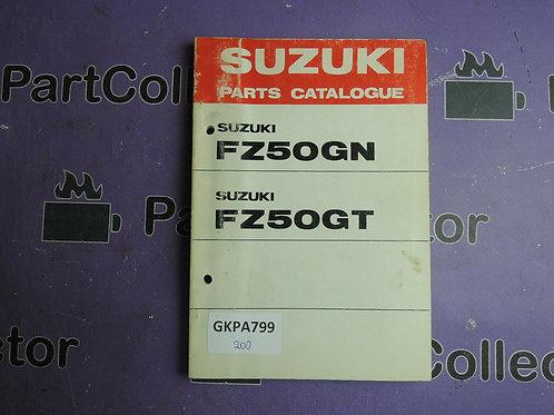 1980 SUZUKI FZ50GN PARTS CATALOGUE 99000-94021