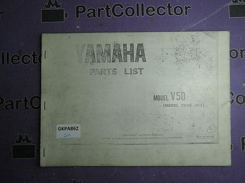 1985 YAMAHA  V 50 PART LIST 3E1-28198-05
