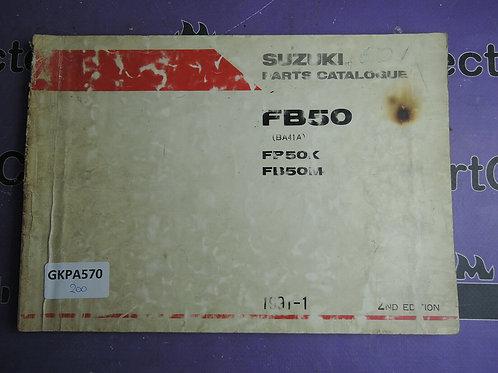 1991-1 SUZUKI FB50 PARTS CATALOGUE 9900B-10028