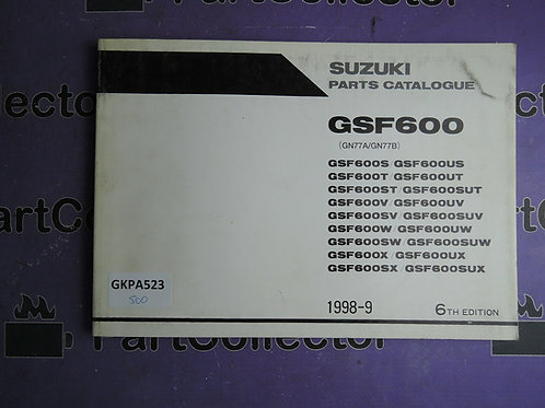 1998-9 SUZUKI GSF 600 PARTS CATALOGUE 9900B-30098-040