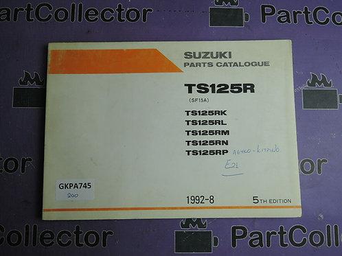 1992-8  SUZUKI TS125R PARTS CATALOGUE 9900B-20044-040