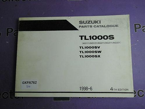 1998-6 SUZUKI TL1000S PARTS CATALOGUE 9900B-30116-020