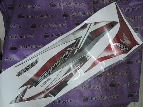 HONDA SUPRA X HELM IN F1 2014 RIGHT SIDE DECAL STRIPE BLACK RED 871X0-KYZ-670ZAR
