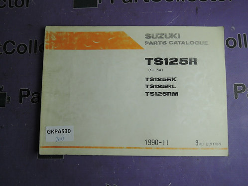 1990-11 SUZUKI TS 125R  PARTS CATALOGUE 9900B-20044-020