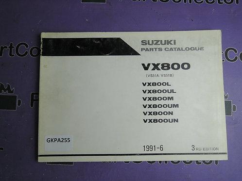 1991-6 SUZUKI VX 800 PARTS CATALOGUE 9900B-30076-020 GREEK