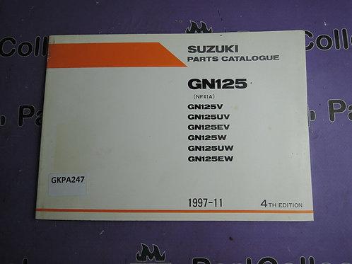 1997-11 SUZUKI GN 125 PARTS CATALOGUE 9900B-20064-011 GREEK