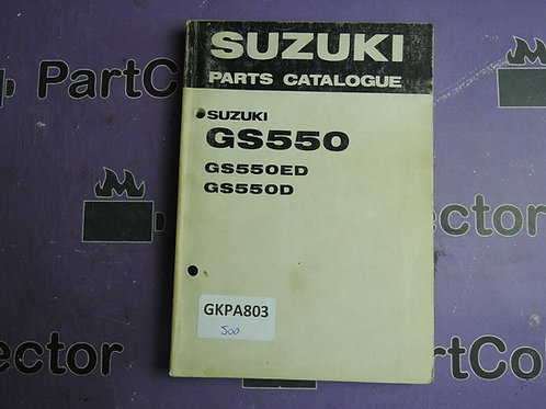 1982 SUZUKI GS550 PARTS CATALOGUE 99000-93056