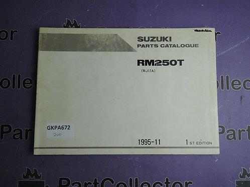 1995-11 SUZUKI RM250T PARTS CATALOGUE 9900B-28034