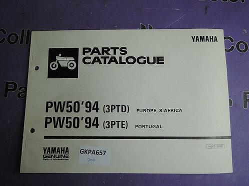 1994 YAMAHA PW50 PARTS CATALOGUE 143PT-300E1