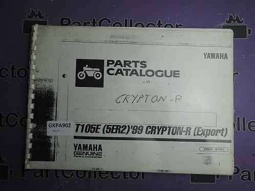 1999 YAMAHA T105E BOOK PARTS CATALOGUE 195ER-511E1