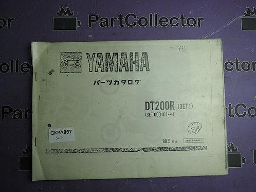 1989 YAMAHA DT 200R BOOK PARTS CATALOGUE 183ET-010J1